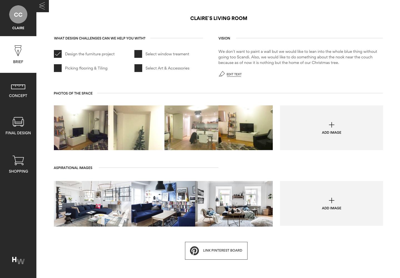 Room Design Website homewings — online interior design